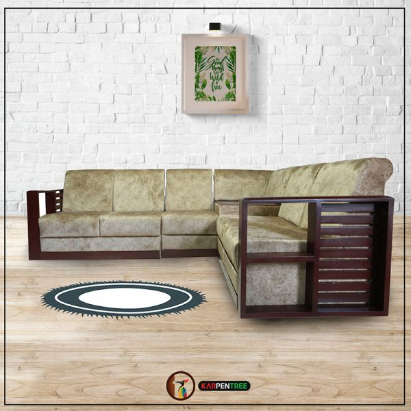 Buy sofas,bed,dining sets,wardrobes,cabinets,shoe racks and office. Canus L Shaped Sofa Set in Mahagani
