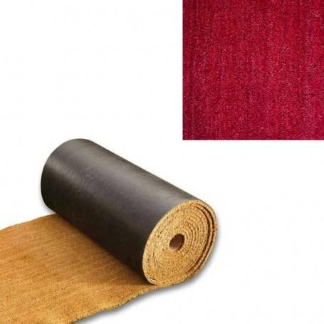 tapis coco sur mesure 23 mm qualite superieure couleur rouge karpet