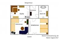 Ferienwohnung Lilli Skizze Wohnungsplan