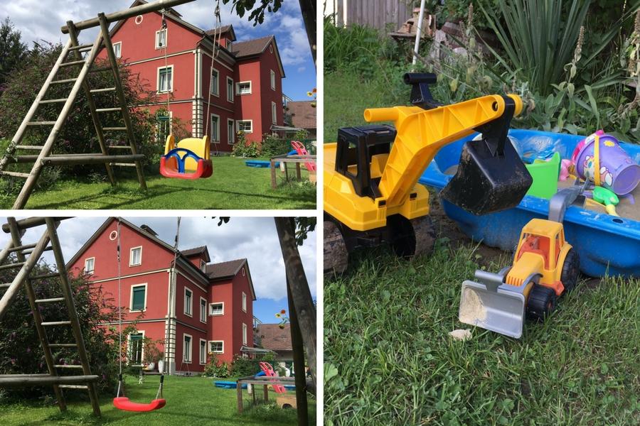 Spielzeug im Garten