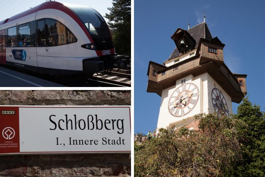 Ausflug nach Graz auf den Schlossberg zum Uhrturm und zurück mit dem Zug (GKB) - Fotos: Burchhart