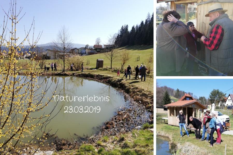 Naturerlebnis am 23.03.2019 mit Luis an der Teichanlage Wascher in Köflach