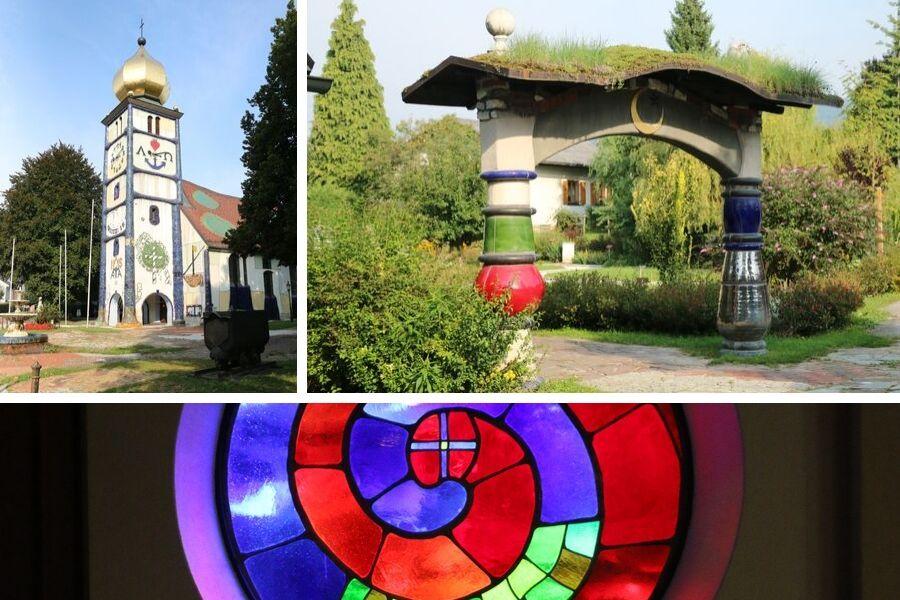 St. Barbara Kirche oder Hunderwasser-Kirche in Bärnbach