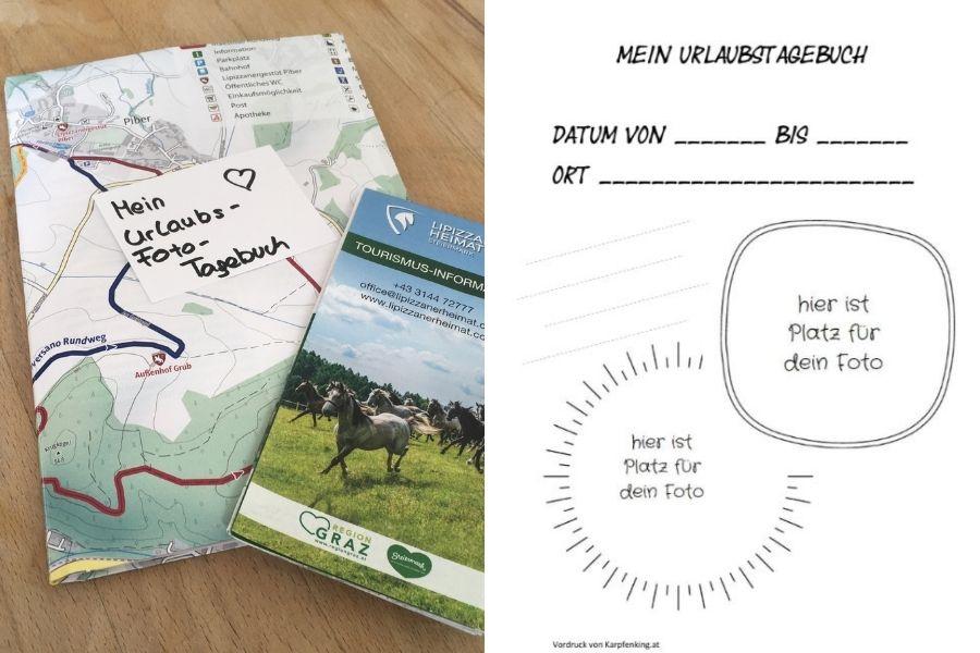 Uralubstagebuch im A5 Format mit Umschlag