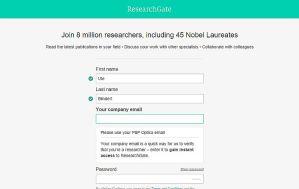 ResearchGate - Mitglied werden können Wissenschaftler und Forscher