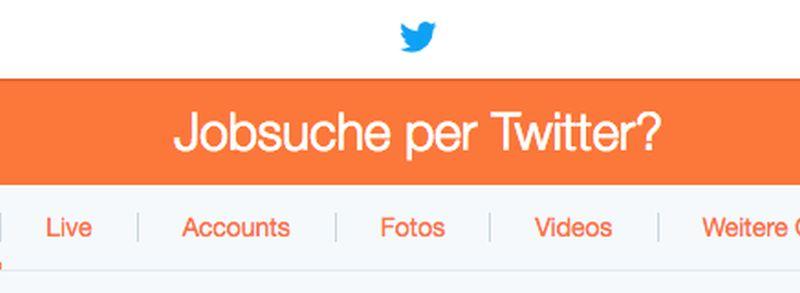 Jobsuche über Twitter