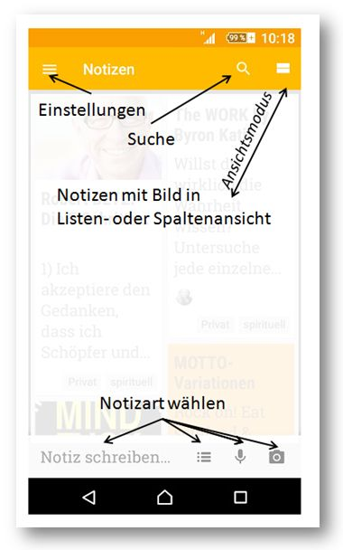 Google Keep/Notizen (c) Sylvia Nickel