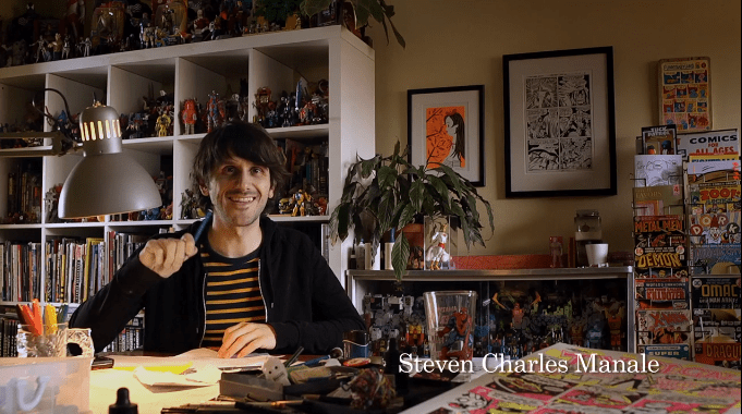 Artist with pencil illustrates a possible future career choice(screenshot)