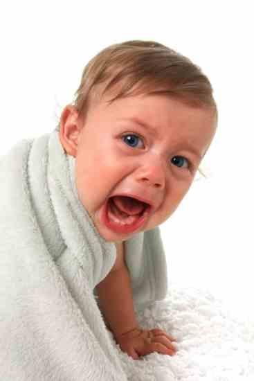 Baby having tantrum