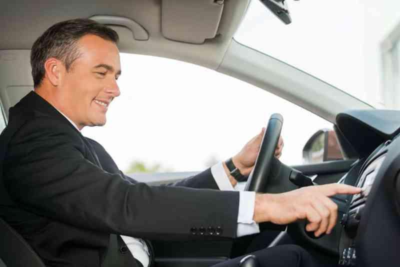 Happy Man Driving