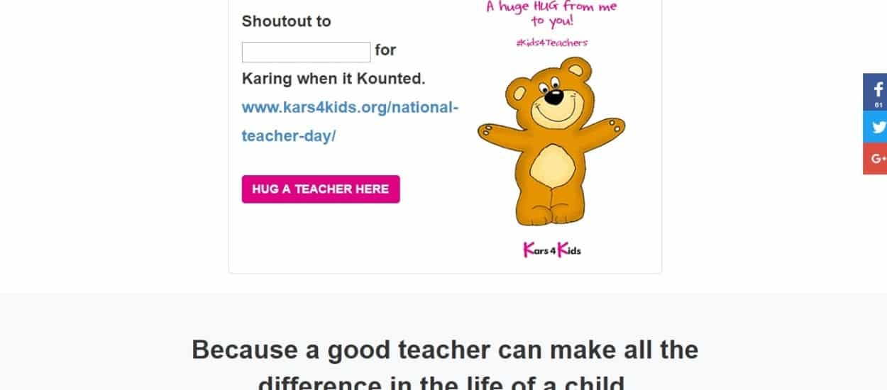Hug A Teacher