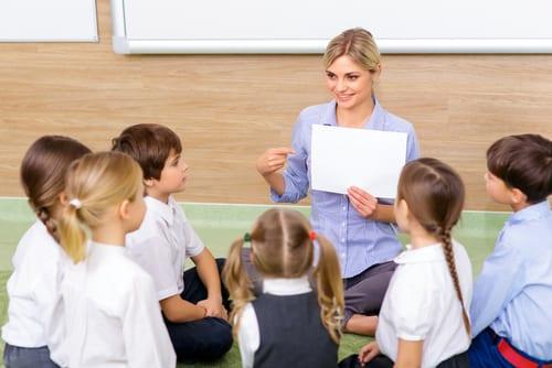 Teacher modeling positive behavior