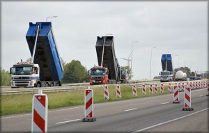 trucks undergoing routine preventive maintenance