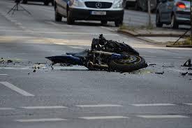 motorbike wreckage