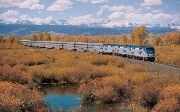 Картинка Двухэтажный поезд в Калифорнии » Поезда ...