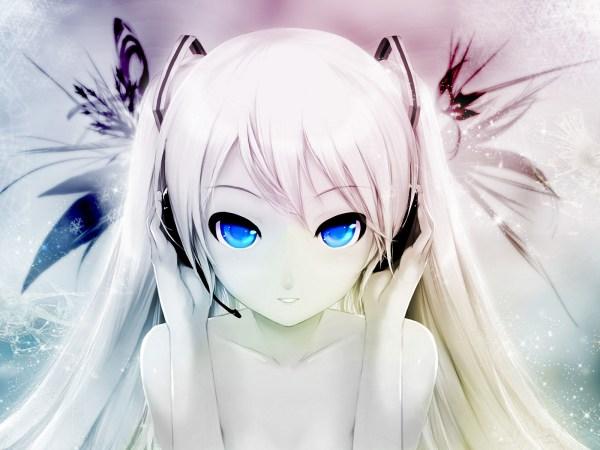 Картинка Аниме девушка с белыми волосами » Аниме ...