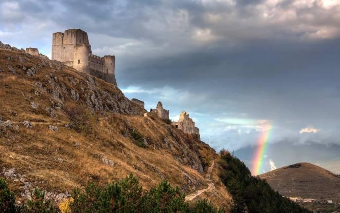 Обои Замок и радуга, картинки - Обои на рабочий стол Замок ...