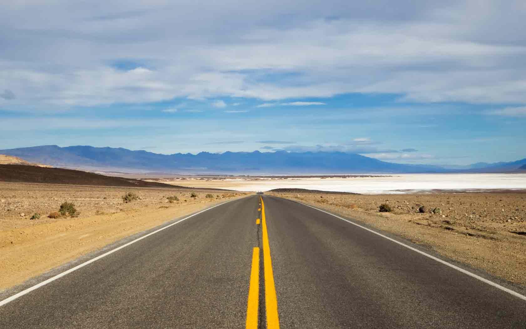 Обои Дорога в пустыне, картинки - Обои на рабочий стол ...