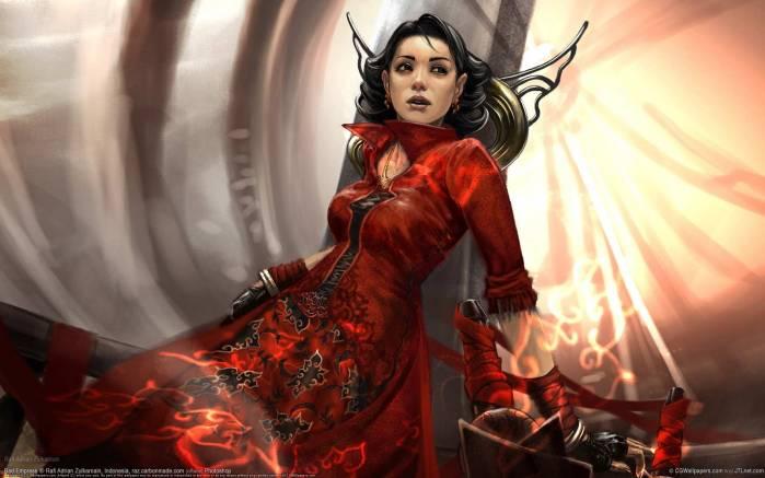 Обои Девушка в красном платье, картинки - Обои на рабочий ...