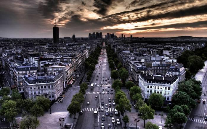 Обои Улицы Парижа, картинки - Обои на рабочий стол Улицы ...