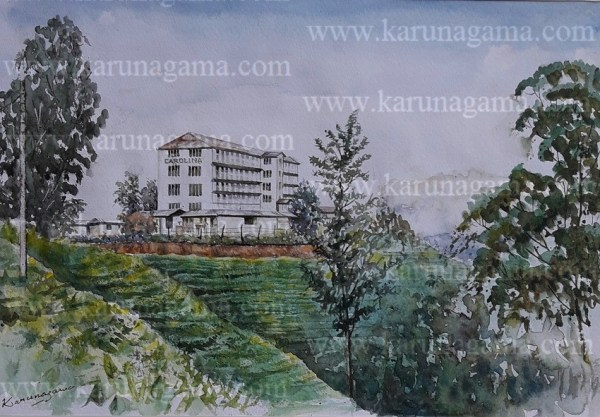 Online, Art, Art Gallery, Online Art Galley, Sri Lanka, Karunagama, Watercolor, Water Colour, Sri lanka Tea industry, Sri lanka Tea plantations, Tea plantations, Tea Factories, Tea Factories in Sri lanka, Tea factory paintings, Sri lanka paintings,