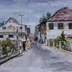Online, Art, Art Gallery, Online Art Galley, Sri Lanka, Karunagama, Watercolor, Water Colour, Mawanella Paintings, Mawanella, Mawanella town, Townscape, Townscape Paintings, Water Colors, Paintings, Sri Lanka, Online Arts, Art Gallery, Sarath Karunagama, Online Art Gallery, Portrait, Landscape, Narrow, Street, Small Town, Sri lanka paintings,