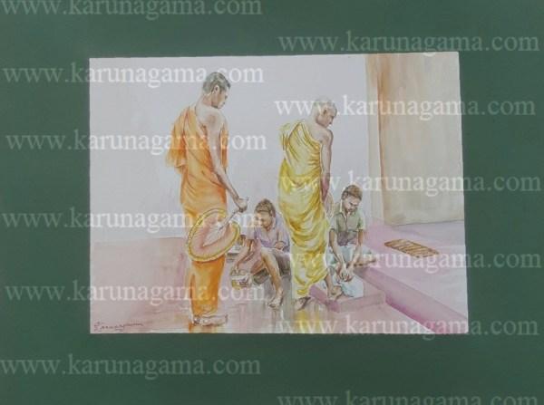Online, Art, Art Gallery, Online Art Galley, Sri Lanka, Karunagama, Watercolor, Water Colour, Old Monk, Sri lanka Monk, Buddhist monk, Monk Paintings, People, Sri lanka People, Water Colors, Paintings, Sri Lanka, Online Arts, Art Gallery, Sarath Karunagama, Online Art Gallery, Portrait, Landscape, People, Monk, Buddhist, Sri lanka paintings,