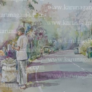 Online, Art, Art Gallery, Online Art Galley, Sri Lanka, Karunagama, Watercolor, Water Colour, Corn on the cob, Corn Sellers in Sri Lanka, People, Corn sellers, Water Colors, Paintings, Sri Lanka, Online Arts, Art Gallery, Sarath Karunagama, Online Art Gallery, Portrait, Landscape, Corn, Seller, Road, People, Sri lanka paintings,