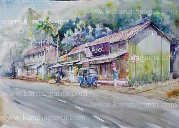 Online, Art, Art Gallery, Online Art Galley, Sri Lanka, Karunagama, Watercolor, Water Colour, Sri lanka stores, Water Colors, Paintings, Sri Lanka, Online Arts, Art Gallery, Sarath Karunagama, Online Art Gallery, Portrait, Landscape, Area 52, Street, Sri lanka paintings,