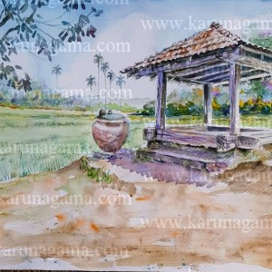 Online, Art, Art Gallery, Online Art Galley, Sri Lanka, Karunagama, Watercolor, Water Colour, Ambalama, Sri Lanka Ambalama, Ambalama, Sri Lanka Ambalama, Sri lanka paintings,