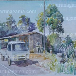Online, Art, Art Gallery, Online Art Galley, Sri Lanka, Karunagama, Watercolor, Water Colour, Ramboda Pass, Pussellawa, Pussellawa Paintings, Mini truck, Truck Paintings, Sri lanka paintings,