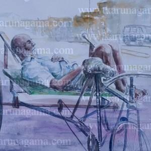 Online, Art, Art Gallery, Online Art Galley, Sri Lanka, Karunagama, Watercolor, Water Colour, Beggars, Sri lanka Beggars, Beggars Paintings, People, Sri lanka People, Sri lanka paintings,