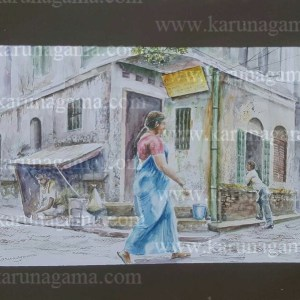 Online, Art, Art Gallery, Online Art Galley, Sri Lanka, Karunagama, Watercolor, Water Colour, Sarath Karunagama, Indian Streets, India, People, Sri lanka paintings,