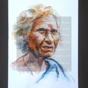 Art, Art Gallery, India, Indian Streets, Karunagama, Old women, Online, Online Art Galley, Paintings of old women, People, Sarath Karunagama, Sri Lanka, Sri lanka Paintings, Tamil women, Water Colour, Watercolo