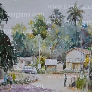 Online, Art, Art Gallery, Online Art Galley, Sri Lanka, Karunagama, Watercolor, Water Colour, Sarath Karunagama, Water board, Katugastota, Sri lanka paintings,