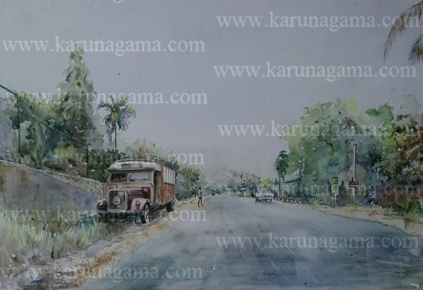 Online, Art, Art Gallery, Online Art Galley, Sri Lanka, Karunagama, Watercolor, Water Colour, Kurunegala, Benz trucks, Old Vehicles, Kurunegala Paintings, Paintings, Sri lanka paintings,