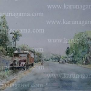 Online, Art, Art Gallery, Online Art Galley, Sri Lanka, Karunagama, Watercolor, Water Colour, Kurunegala, Benz trucks, Old Vehicles, Kurunegala Paintings, Paintings, Sri lanka paintings,