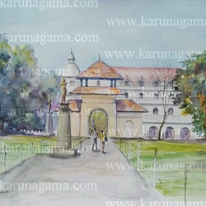 Online, Art, Art Gallery, Online, Online Art Galley, Sri Lanka, Karunagama, Sri lanka Paintings, Queens hotel paintings, Clock tower, Kandy Paintings, Dalada maligawa paintings, Kandy watercolor paintings, Water Colour, Watercolor