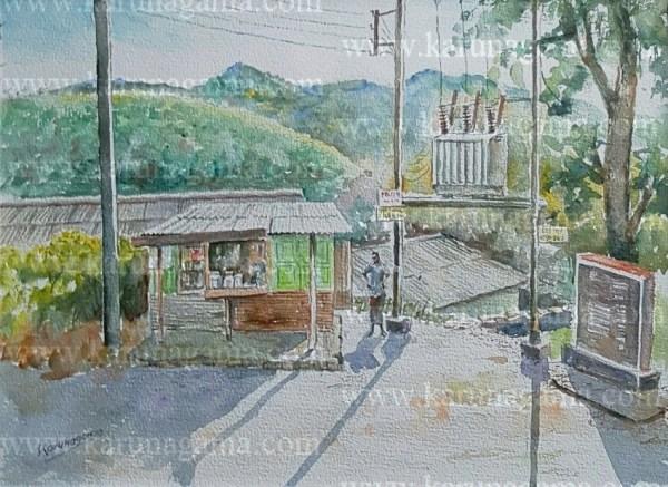 Online, Art, Art Gallery, Online Art Galley, Sri Lanka, Karunagama, Watercolor, Water Colour, Factories, Sri lankan Factories, Sri lankan tea factories, Tea factory paintings, Srilanka tea industry, Sri lanka hill country, Transformers, Step down transformers.