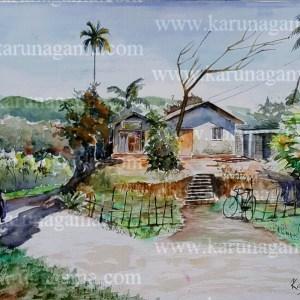 Online, Art, Art Gallery, Online Art Galley, Sri Lanka, Karunagama, Watercolor, Water Colour,Dolosbage, Nawalapitiya, Landscape,