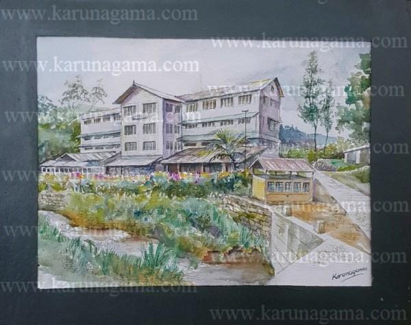 Online, Art, Art Gallery, Online Art Galley, Sri Lanka, Karunagama, Watercolor, Water Colour, Rozella estate, Rozella tea factory, Factory paintings, Landscapes, Tea estates in Sri lanka, Tea estates,