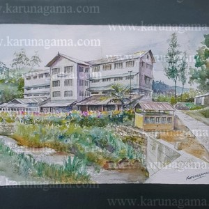 Online, Art, Art Gallery, Online Art Galley, Sri Lanka, Karunagama, Watercolor, Water Colour, Rozella estate, Rozella tea factory, Factory paintings, Landscapes, Tea estates in Sri lanka, Tea estates,