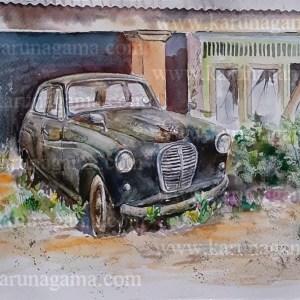 Online, Art, Art Gallery, Online Art Galley, Sri Lanka, Karunagama, Watercolor, Water Colour, Austin, Baby Austin, Sri lanka Austin, Austin A30, Classic Austin, Sri lanka Classic cars, Classic car paintings,