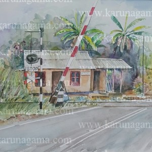 Online, Art, Art Gallery, Online Art Galley, Sri Lanka, Karunagama, Watercolor, Water Color, Garages, Garages in Sri lanka, Hill country railways, Control cabin paintings, landscape paintings,