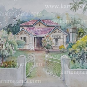 Online, Art, Art Gallery, Online Art Galley, Sri Lanka, Karunagama, Watercolor, Water Color, Mansions, Mansions in Sri lanka, Rural paintings, landscape painatings,