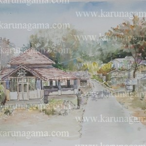 Online, Art, Art Gallery, Online Art Galley, Sri Lanka, Karunagama, Watercolor, Water Colour, Buddhist temples, Galapitamada,