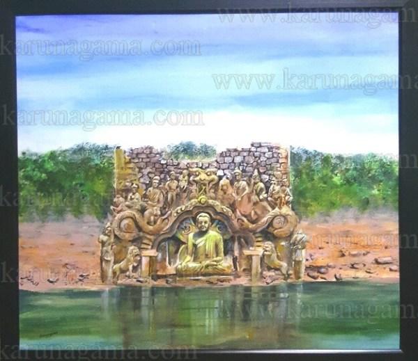 Art, Art Gallery, Ceylon, Karunagama, Kotmale, Kotmele, Landscapes, Landscapes in Sri lanka, Old Sri lanka, Online, Online Art Gallery, Kadadora viharaya, Kadadora temple, Temple underwater, Sceneries in Sri lanka, Sri Lanka, Trekkiing in Sri lanka Published