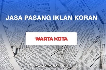 Jasa Pasang Iklan Koran Warta Kota