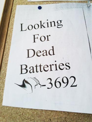 Photo title: Dead Batteries