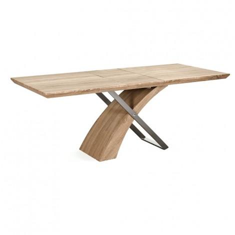Table Level Fixe Ou Extensible Avec Structure En Bois Et